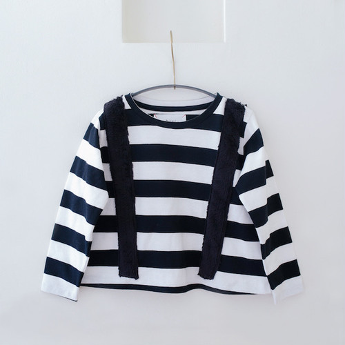 SALE!! 30% OFF michirico kids boa border T