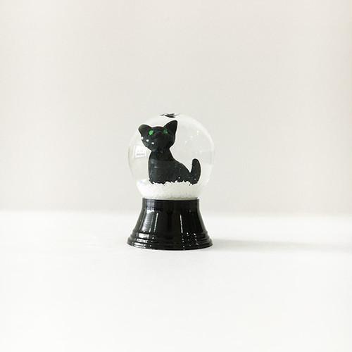 黒猫 スノードーム PERZY社 SS