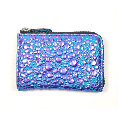 Mini Wallet [Water Drop] Violet × SkyBlue