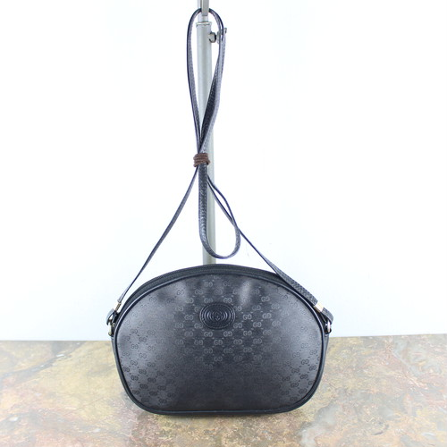 .OLD GUCCI GG PATTERNED SHOULDER BAG MADE IN ITALY/オールドグッチマイクロGG柄ショルダーバッグ 2000000048017