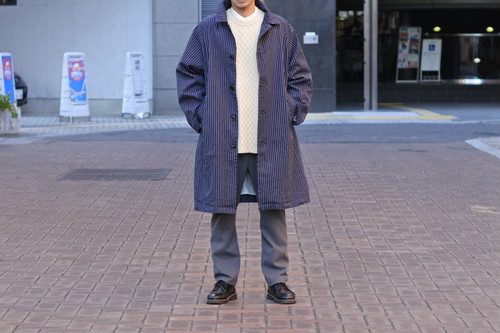 【ORDINARY FITS】YARD COAT stripe