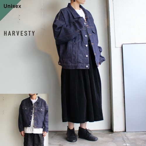HARVESTY ルーズデニムGジャケット DAILY DENIM JACKET A31910 (ONE WASH)