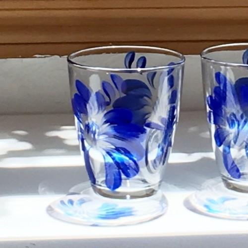 【父の日プレゼント】ブルーフラワーグラス