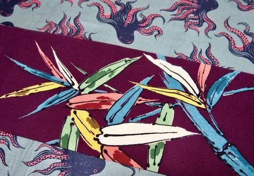 笹と蝶・名古屋帯