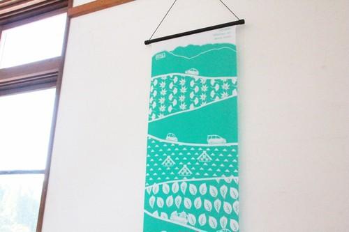 8936テヌグイ 石川県白山市の名所 白山白川郷ホワイトロードがデザインされたご当地手ぬぐい