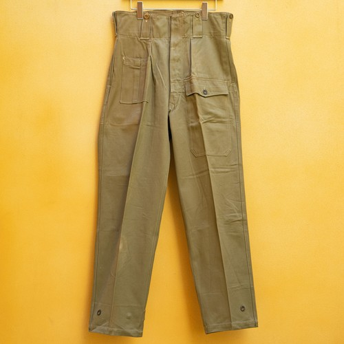 50's BELGIAN ARMY COTTON CARGO PANTS DEAD STOCK - 2