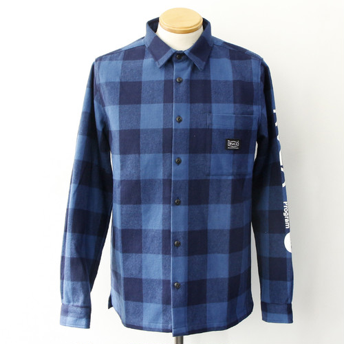 RVCA BROTHERS FLANNEL SHIRT (BLUE)