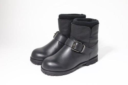 knit rib engineer boots(black)