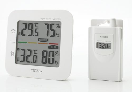 シチズン コードレス温湿度計(簡易熱中症指標表示付き) THD501