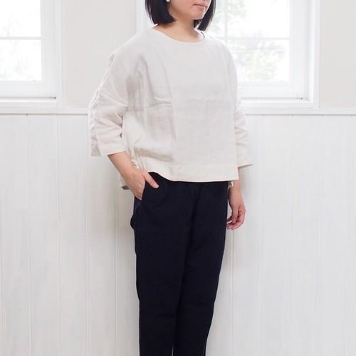 【YAMMA】 リネンサイドギャザーシャツ SG-SH