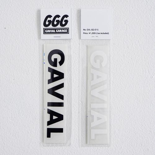 "CUTTING STICKER  ""GAVIAL""(BLACK + WHITE) / GAVIAL"
