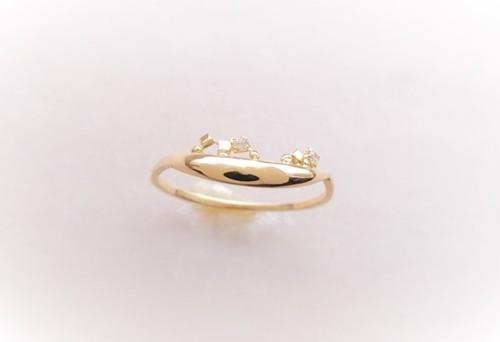 ダイヤモンド*sulla luna~月~K10gold ring*