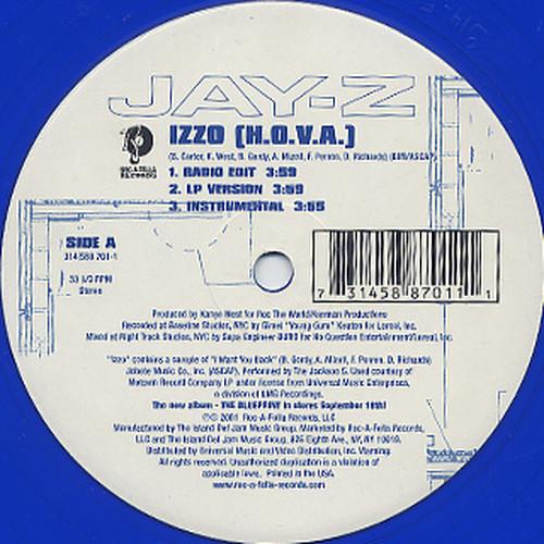 Jay-Z - IZZO (H.O.V.A.) (12inch) I WANT YOU BACK ネタ [hiphop] 試聴 fps7906-15