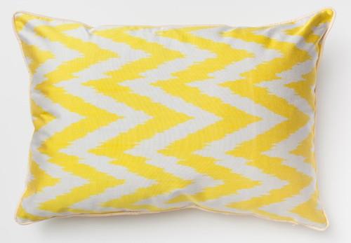 """""""Yellow Zigzag"""" 40cm x 60cm 〔両面イカット〕"""