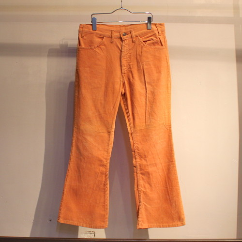 70s Levi's 646 corduroy pants ''ORANGE'' / UB309