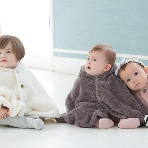 神戸のふわふわベビーマント 0~2歳フリーサイズ