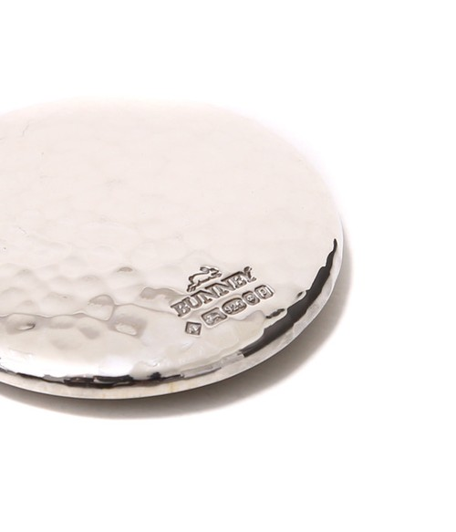 BUNNEY - 34mm Hammered Badge 925 Silver