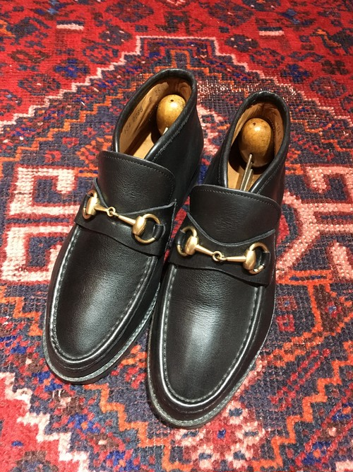 .GUCCI LEATHER HORSE BIT SHORT BOOTS MADE IN ITALY/グッチレザーホースビットショートブーツ 2000000043371