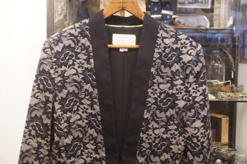 Nicole Miller lace printed tuxedo style Jacket