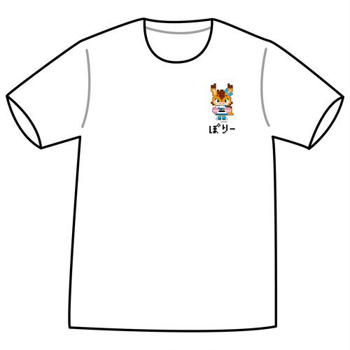 ドットファイターズ 「ポリー」 Tシャツ ホワイト