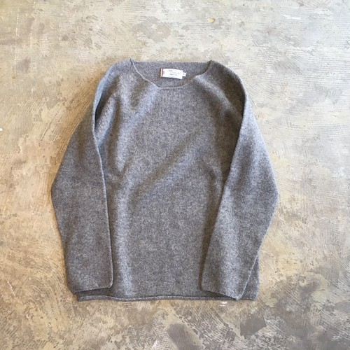 NOR'EASTERLY(ノアイースタリー) L/S WIDE NECK KNIT OYSTER