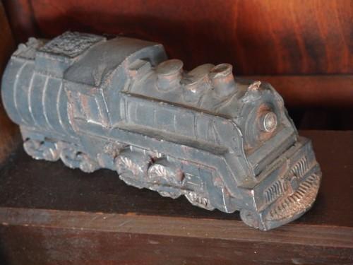 蒸気機関車 オブジェ 置物 手作り