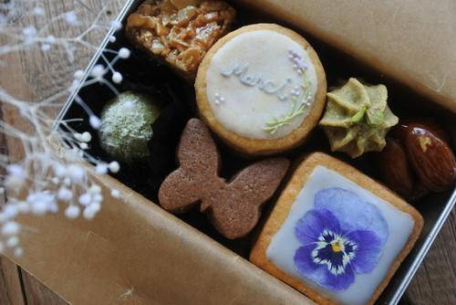 <店舗受取り>数量限定*アナトリエのクッキー缶 merci缶ミニver.(発送不可)