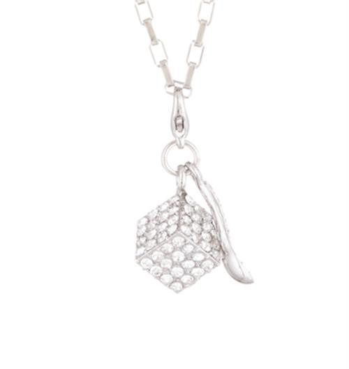 スワロキューブネックレス(Silver)