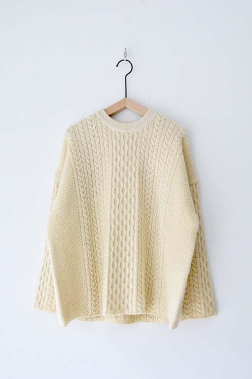 【ORDINARY FITS】CABLE KNIT/OF-N013