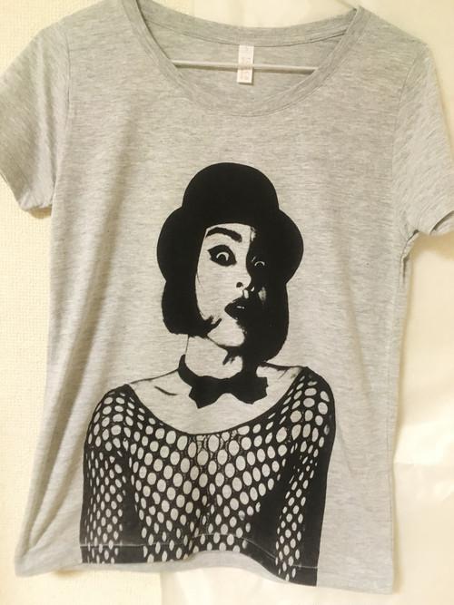 【Tシャツ】蜂鳥あみ太Tシャツ「アミタッティー2018」ヘザーグレー