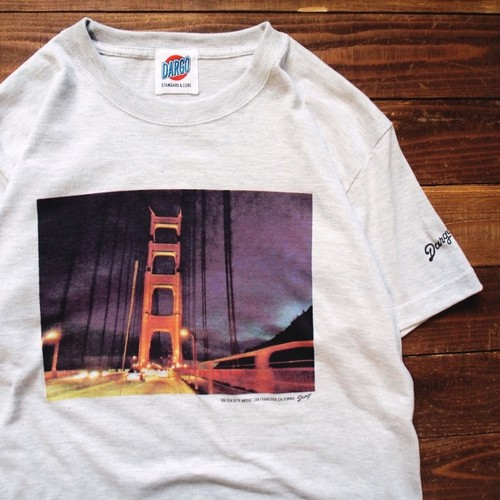 "【DARGO】""Golden Gate Bridge"" T-shirt (ASH GREY)"