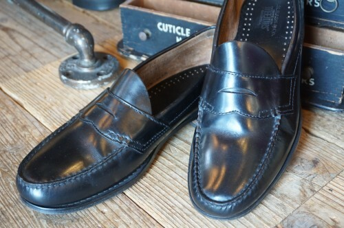 "G.H.Bass WEEJUNS black penny Loafer ""Made in U.S.A."""
