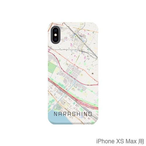 【習志野】地図柄iPhoneケース(バックカバータイプ・ナチュラル)