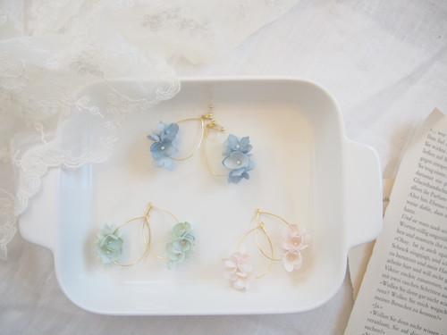 紫陽花のしずくピアス/イヤリング