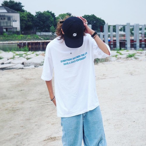 【Summer limited】 Everything becomes live T-shirts 【White/Blue】