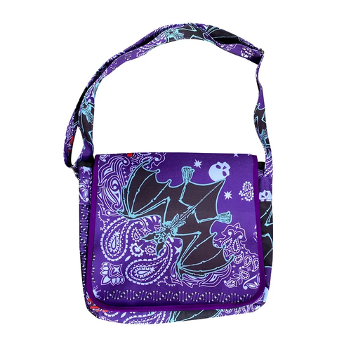 VIRUS WORLD  Virus Paisley Bag PURPLE