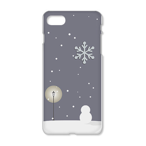 iPhoneケース/雪の降る街
