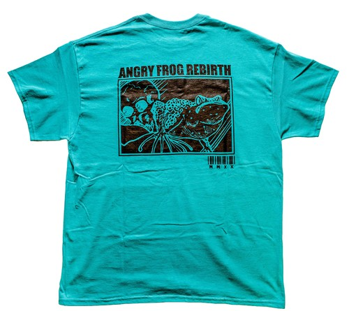 MINDWEAPON × ANGRY FROG REBIRTH T-shirts  Tutquoise blue