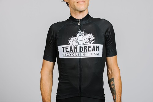 TEAM DREAM BICYCLING TEAM / Staple Fit Meowchelin Cat Jersey / Black