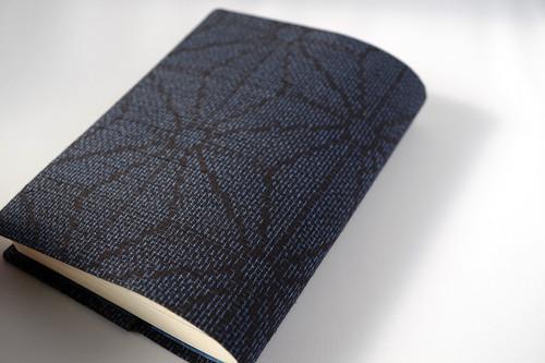 文庫本セパレート式ブックカバー(絹・結城紬)hb063