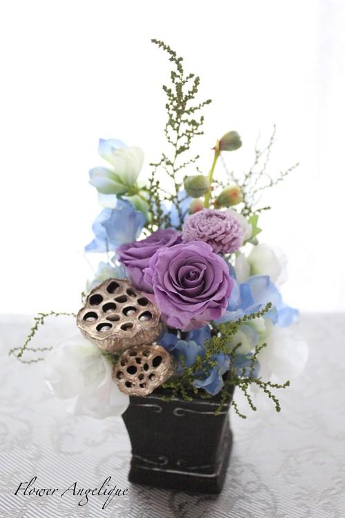 プリザ仏花ミニ♪小さなお供え花
