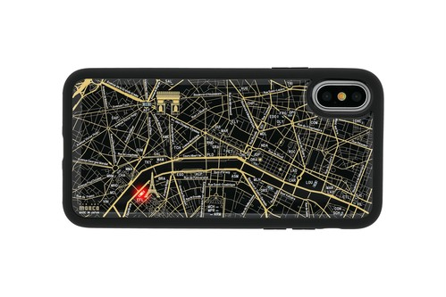 FLASH Paris回路地図 iPhoneX/XSケース 黒【東京回路線図ピンズをプレゼント】