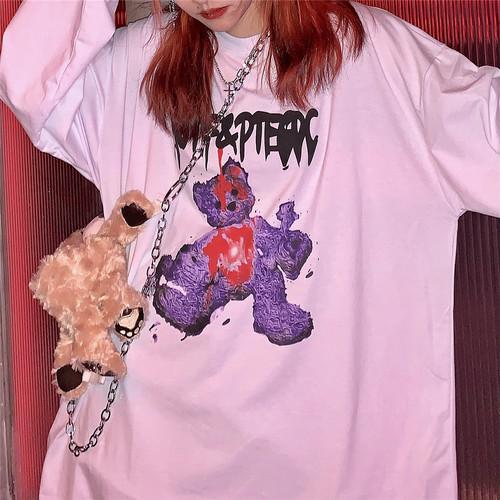 【トップス】カジュアルラウンドネック動物柄Tシャツ24504594