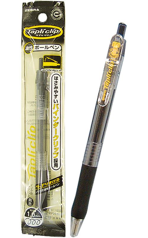 【まとめ買い=10個単位】でご注文下さい!(31-608)ゼブラタプリクリップボールペン1.0太字(黒)