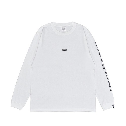 EMBROIDERY SMALL LOGO L/S TEE / WHITExBLACK