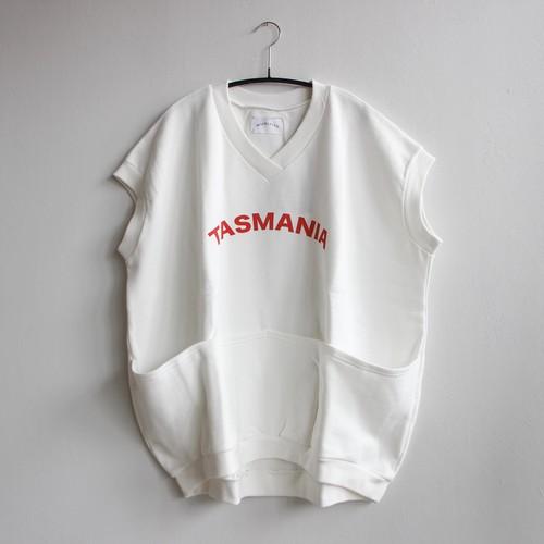 《michirico 2021SS》TASMANIA sleeveless tops / white × red logo / F(大人)