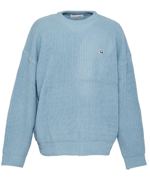 ONE POINT CREW NECK COLOR BIG KNIT[REK077]