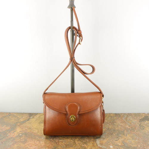 .OLD COACH TURN LOCK LEATHER SHOULDER BAG MADE IN USA/オールドコーチターンロックレザーショルダーバッグ 2000000040646