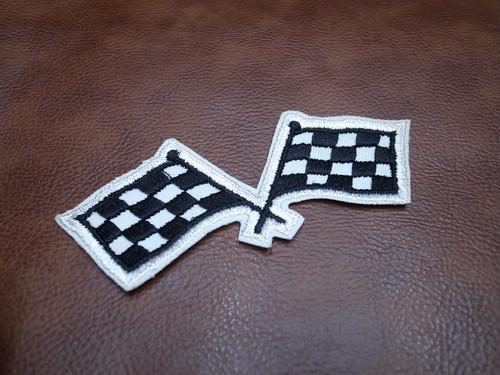 レーシングフラッグ 大 Racing Flag Vintage Patch