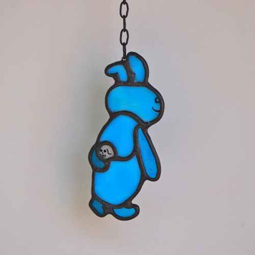 """Rabbit"" YUZZLE SERIES Stainedglass Room Mirror Pendant"